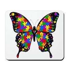 autismbutterfly-transp Mousepad