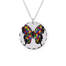 autismbutterfly-transp Necklace