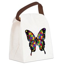 autismbutterfly-transp Canvas Lunch Bag