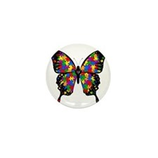 autismbutterfly-transp Mini Button