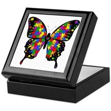 autismbutterfly-transp Keepsake Box