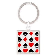 poker_signs_field_small Square Keychain
