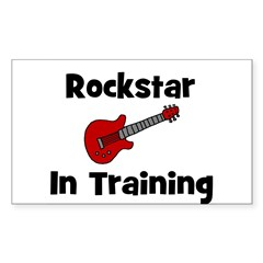 Rockstar In Training Rectangle Decal