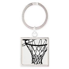 basketball_basket Square Keychain