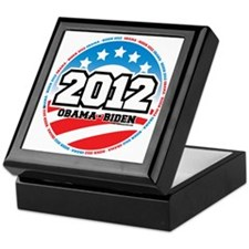 Obama-2012-Circle-2 Keepsake Box