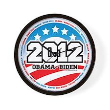 Obama-2012-Circle-2 Wall Clock