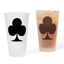 poker_clubs Drinking Glass