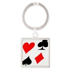 flying_poker_deformed Square Keychain