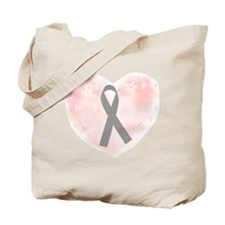 gray ribbon support Tote Bag