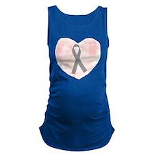 gray ribbon support Maternity Tank Top