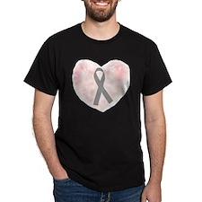 gray ribbon support T-Shirt