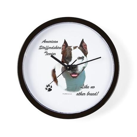 Am Staff Breed Wall Clock