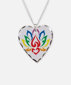 LGBTQ-Lotus-Flower-blk Necklace