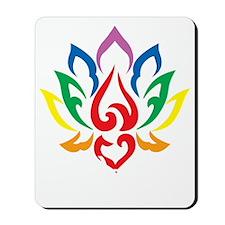 LGBTQ-Lotus-Flower-blk Mousepad