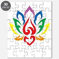LGBTQ-Lotus-Flower-blk Puzzle