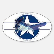 Corsair Pacific Star Sticker (Oval)