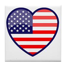 Heart of the USA Tile Coaster