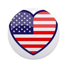 Heart of the USA Round Ornament