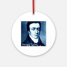 Samuel Taylor Coleridge Round Ornament