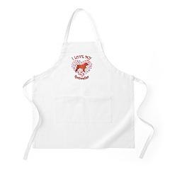 Love Rottweiler BBQ Apron
