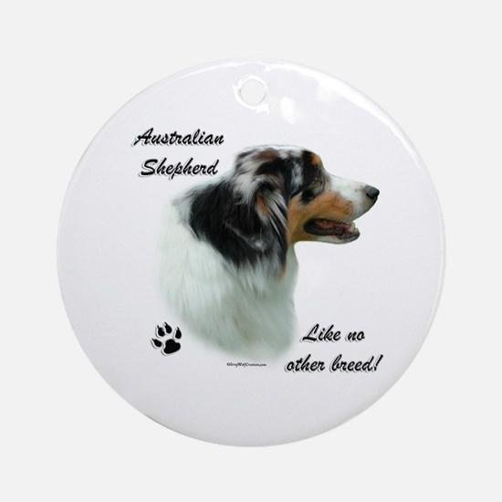Aussie Breed Ornament (Round)