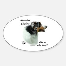 Aussie Breed Oval Decal