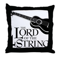 Lord of the 4 Strings Ukulele Throw Pillow