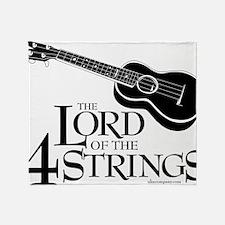 Lord of the 4 Strings Ukulele Throw Blanket