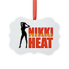Nikki Heat Wht Picture Ornament