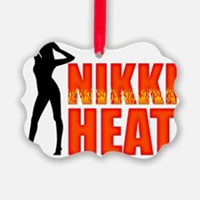 Nikki Heat Wht Ornament