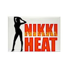Nikki Heat Hat Rectangle Magnet