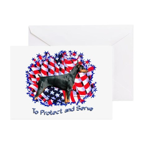 Dobie Protect Greeting Cards (Pk of 10)