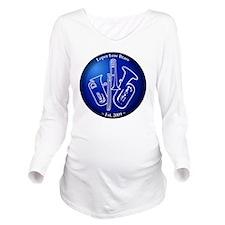 Loper Low Brass Blue Long Sleeve Maternity T-Shirt