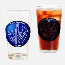 Loper Low Brass Blue Circle Drinking Glass