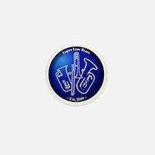 Loper Low Brass Blue Circle Mini Button