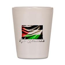free-palestine-grunge Shot Glass