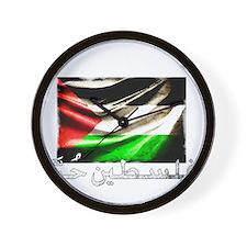 free-palestine-grunge Wall Clock