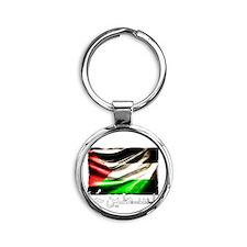 free-palestine-grunge Round Keychain