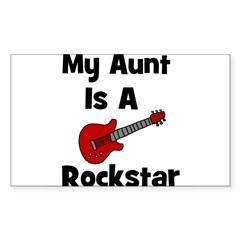 My Aunt Is A Rockstar Rectangle Decal