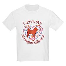 Love Elkhound Kids T-Shirt