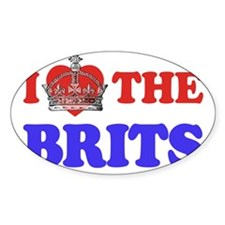 I Heart the Brits 2 Decal