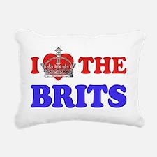 I Heart the Brits 2 Rectangular Canvas Pillow