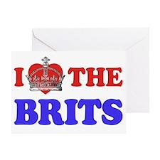 I Heart the Brits 2 Greeting Card