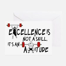 Excellence is not a skill its an att Greeting Card