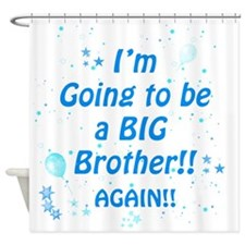 bigbroagainblue Shower Curtain
