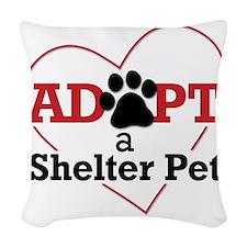 Adopt a Shelter Pet Woven Throw Pillow