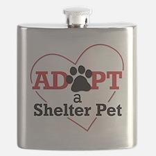 Adopt a Shelter Pet Flask