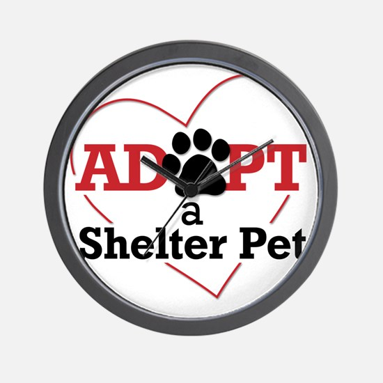 Adopt a Shelter Pet Wall Clock
