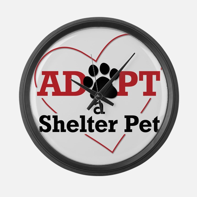 Adopt a Shelter Pet Large Wall Clock