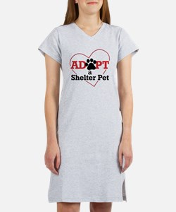 Adopt a Shelter Pet Women's Nightshirt